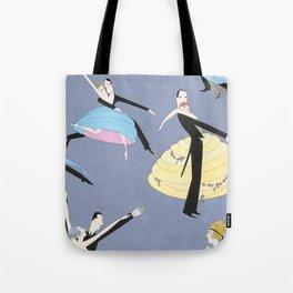 1920s Vanity Fair Illustration of Dancing Couples Tote Bag