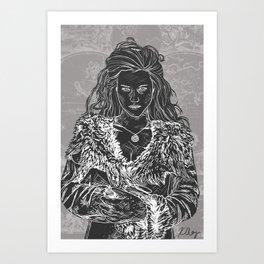 Morgana the High Priestess Art Print