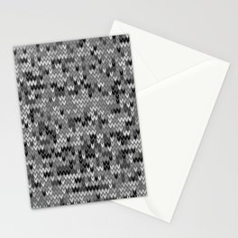 Heathered knit textile 4 Stationery Cards