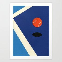 Jumping Tennis Ball Art Print
