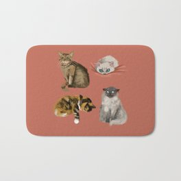 Quatre Cat Bath Mat