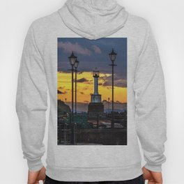 Maryport Lighthouse At Sunset Hoody