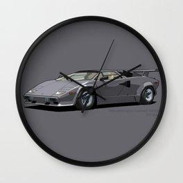 Lamborghini Countach 5000QV Canna di Fucile (US spec) Wall Clock