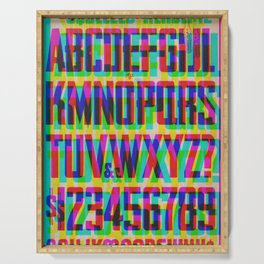Squeezed Type Glitch Version Serving Tray
