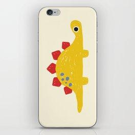 Cute Yellow Stegosaurus Dinosaur iPhone Skin