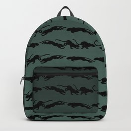 Cat Runnig Cycle Pattern Backpack