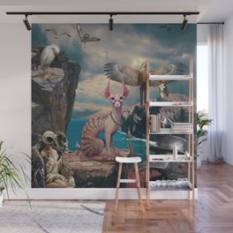 Birds with Cat Wall Mural