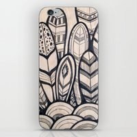 feathers iPhone & iPod Skins featuring Feathers by jewelwing