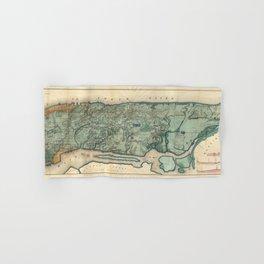 Egbert Viele 1865 Topographic Map of New York City Hand & Bath Towel