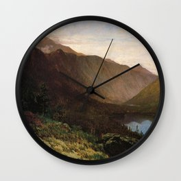 Mount Lafayette Franconia Notch New Hampshire 1870 By Thomas Hill | Reproduction Wall Clock