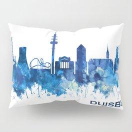 Duisburg Germany Skyline Blue Pillow Sham