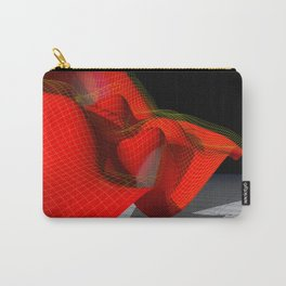 Waved red surface Carry-All Pouch