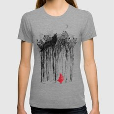 Into The Woods Womens Fitted Tee MEDIUM Tri-Grey