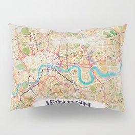 Watercolor Map of London Pillow Sham