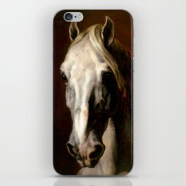 "Théodore Géricault ""The head of white horse"" iPhone Skin"