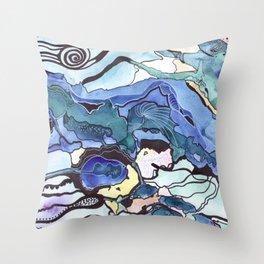 The magic of sea Throw Pillow
