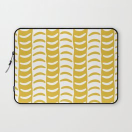 Wavy Stripes Mustard Yellow Laptop Sleeve