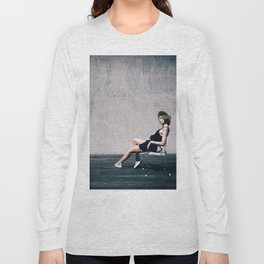 top model with hat Long Sleeve T-shirt