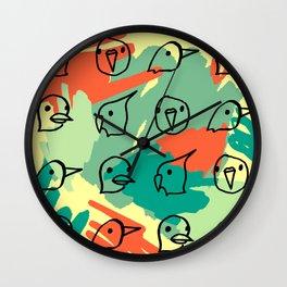 Doodlebird1 Wall Clock