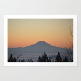 Morning Mountain Fog Art Print