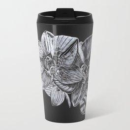 Silver Orchid Travel Mug