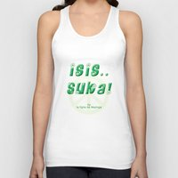 political Tank Tops featuring word-political series: #2 by badword