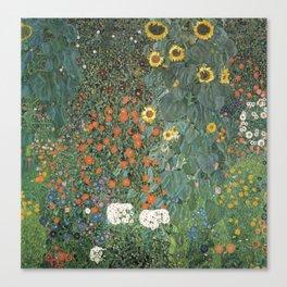 Gustav Klimt - Farm Garden with Sunflowers Canvas Print