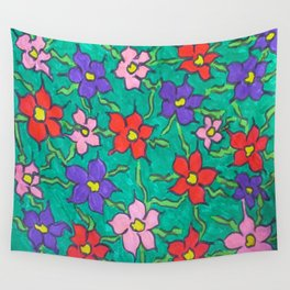 Sweet Floral Garden Wall Tapestry