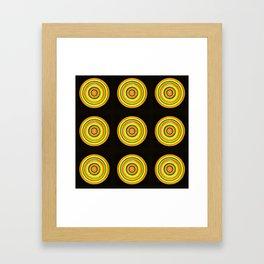 Circle #3  Multiplied Framed Art Print
