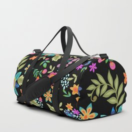 Wild and Free on black Duffle Bag