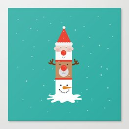 Day 11/25 Advent - Holiday Totem Canvas Print