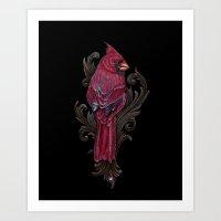 Cardinal Pencil Art Print
