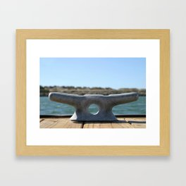 Dock Cleats Framed Art Print