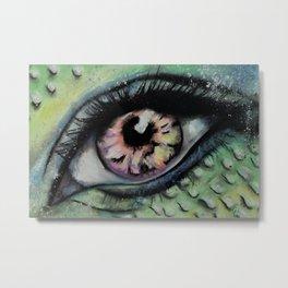A mermaid Eye, Amazing eyes, fantasy, original art by Luna Smith Art, LuArt Gallery Metal Print