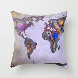 Stars world map. Space. Throw Pillow