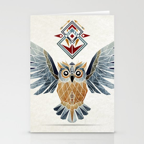 owl winter Stationery Cards