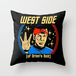 West Side - Spock Throw Pillow