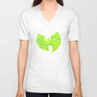 lime green V-neck T-shirts featuring Lime Wu by kiveson