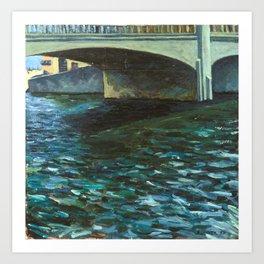 Capitola Bridge Art Print