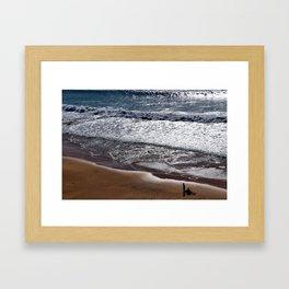 Sand, Waves & Sunset Framed Art Print