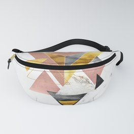 Triangulation Modern Abstract Geometric Fanny Pack