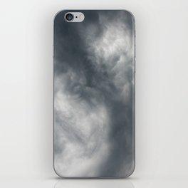 Gloomy billowy sky stormy weather iPhone Skin