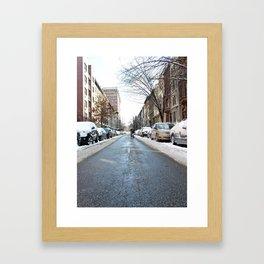 Upper West Side after the Snow Framed Art Print