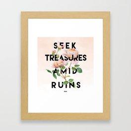 Seek Treasure Framed Art Print