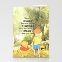 pooh Stationery Cards featuring WINNIE THE POOH by DisPrints