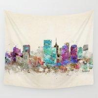 virginia Wall Tapestries featuring richmond virginia skyline by bri.buckley