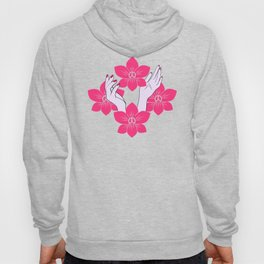 Pink orchid pattern Hoody