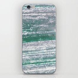 Slate gray green nebulous watercolor paper iPhone Skin