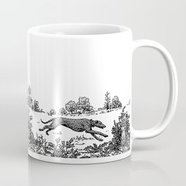 GREYHOUND TOILE LANDSCAPE  drawing Coffee Mug