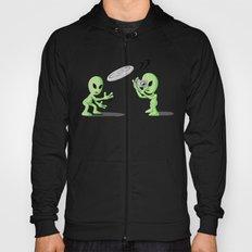 Aliends Playing UFO Frisbee   Hoody